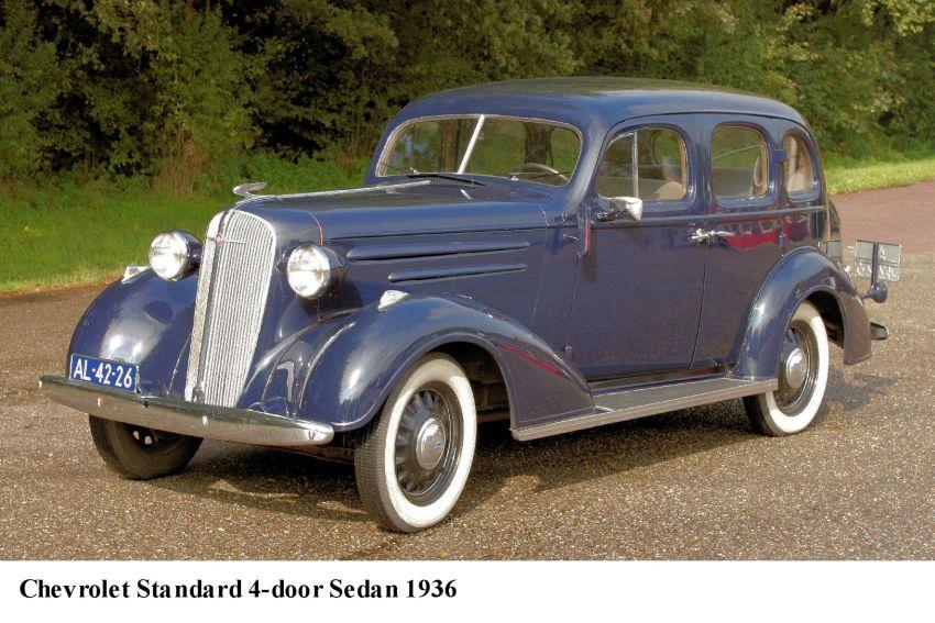 Chevrolet 1936 standard 4 door sedan de hav for 1936 chevy sedan 4 door